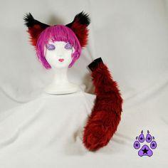 Rust Brown cosplay COSTUME FOX 4005 PAWSTAR Furry WOLF EArs /& TAIL Set RU