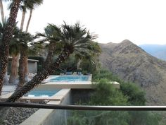 The cantilevered pool at the William Holden house in Palm Springs, 1956 and attributed to John Porter Clark