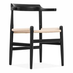 Hans Wegner Style PP68 Chair in Black
