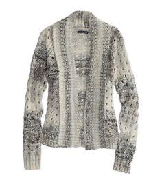 """AE Open Metallic Knit Cardigan in """"grey"""""""