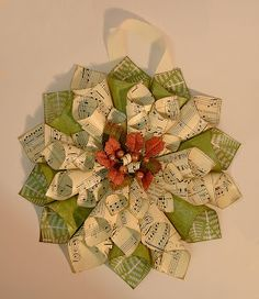 Paper Cone Wreaths