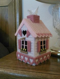 Plastic Canvas Valentine's Day Birdhouse by JaqlynesCreations, $20.00