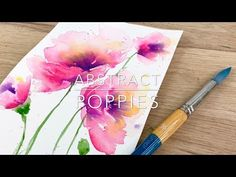 Abstract Poppies by Emma Lefebvre This painting turned out to be a happy accident. I was just sitting down with my paints one day and experimenting with being loose and free with my watercolours. Sometimes, it just works out! So I decided t Watercolor Flowers Tutorial, Watercolor Poppies, Easy Watercolor, Watercolour Tutorials, Abstract Watercolor, Poppies Art, Flower Tutorial, Watercolor Painting Techniques, Watercolor Projects