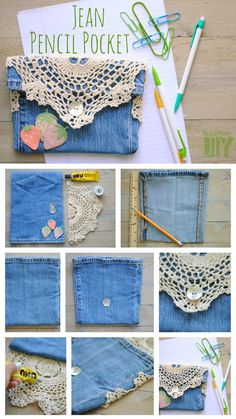 4. Jean Pencil Pocket | 10 DIY Pencil Cases That Make The End Of Summer A Little Less Sad