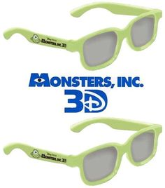 fe2ecacd6717 Monsters Inc. Kid Size Genuine Sealed RealD Circular Polarized 3D Glasses  for RealD Theaters and