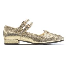 Orla Kiely Clarks AW15 shoes Angelina Gold Sparkle