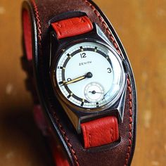 watch strap for vintage Zenith by niwa_leathers