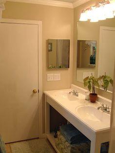 Remodelaholic | Vanity Fair, How We Built Our Bathroom Vanity
