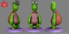 Model of Turtle minor character from the movie Wreck-it Ralph. Concept art posted here: http://pinterest.com/pin/534943261959151542/