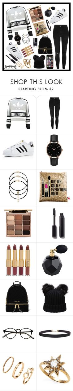 """""""Untitled #46"""" by saintcastaldi ❤ liked on Polyvore featuring adidas Originals, River Island, adidas, Topshop, Sephora Collection, Stila, Chanel, tarte, MICHAEL Michael Kors and Humble Chic"""