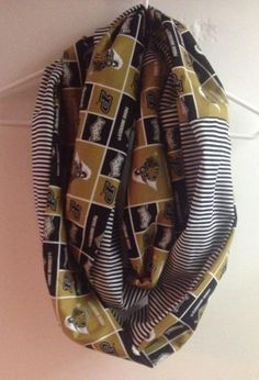 Purdue University and Striped Infinity Scarf on Etsy, $24.00