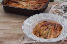 Pastel salado de calabacines, berenjenas y espárragos