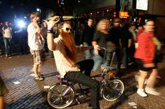 Uh... Even ZZ Top rides bikes in Portland?