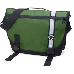 Green Retro Stripe Courier Dad Bag from PoshTots