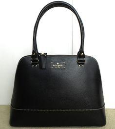 Kate Spade Wellesley Rachelle Black Leather Purse