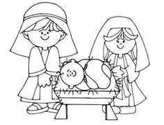 Free Nativity Coloring Page Christmas Pinterest Nativity