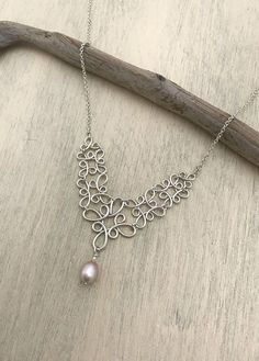 LGSY 925 Sterling Silver of Twisted Shape Pendants Setting Stick The Pearl by DIY