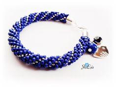 Beaded Bracelet Toho Seed Beads Bracelet Sapphire Bracelet Sapphire birthsone Sapphire birthday gift September birthstone by MadeByJoLis on Etsy