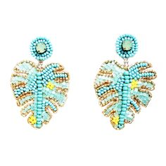 Diamond hoop earrings are completely popular nowadays, thanks to young pop queens like Jennifer Lopez or J-Lo, hiphop diva extraordinaire. Diy Seed Bead Earrings, Leaf Earrings, Beaded Earrings, Earrings Handmade, Seed Beads, Stud Earrings, Diamond Hoop Earrings, Diamond Studs, Leaf Jewelry