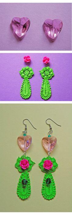 my green macrame earring  http://madebyeleonora.blogspot.it/