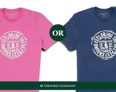 Μπλε ή φούξια; Ποιο Oxford Company t-shirt θα επιλέγατε;  Δείτε την ολοκληρωμένη συλλογή των T-Shirts της OC εδώ: http://www.oxfordcompany.gr/category.php?id_category=12
