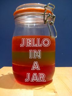 Jello in a mason jar - yum! Fun for picnics. Love these mad hatters tea party ideas