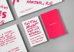 Sita Murt pop up store by Cla Se store design branding Business Card Maker, Unique Business Cards, Creative Business, Business Ideas, Business Card Design Inspiration, Business Design, Corporate Design, Corporate Identity, Retail Design