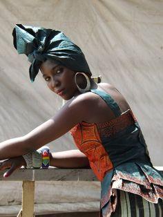 "Sierra Leone Fashion Week 2013 Model looking #MOOREFABULOUS"" in our makeup!"