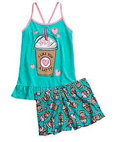 (size 10) Scented Latte Pajama Set
