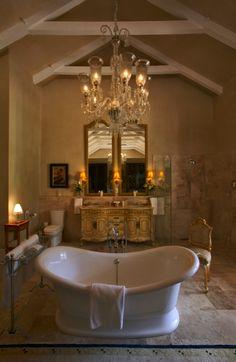 Room 6 'The Huguenot Suite' Bathroom at La Residence, Franschhoek