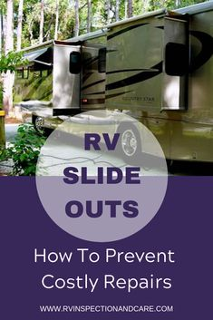 Tips to maintain your RV slide outs to save money! It can cost thousands to repair a damaged RV slide out, or to replace the RV slide out seals. These tips will help you void expensive repairs Rv Camping Tips, Travel Trailer Camping, Camping Essentials, Rv Tips, Camping Ideas, Rv Travel, Camping Stuff, Camping Checklist, Van Camping