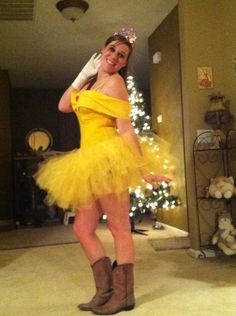 diy belle costume but without those boots