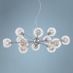 "Possini Euro Onida 31 3/4"" Wide Clear Crystal Glass Pendant"