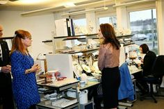 Crown Princess  Mary attended the inauguration of Royal Copenhagen's new headquarters in  Glostrup