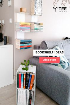 Create the best #bookcase with TEEbooks floating shelves! The very heart of #book fans can be found by the way they manage their volumes. Book readers practice their possession with maximum care because books are not a printed unit for them, they are the solution to a complex world of creativity. Vertical Bookshelf, Floating Bookshelves, Wall Bookshelves, Bookshelf Design, Wall Shelves, Bookcase, Alabama, Contemporary Shelving, Pile Of Books