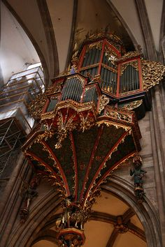Awesome chamber of the grand organ at Strasbourg Cathedral, France (they have 4)