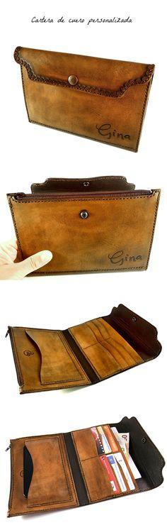 Cartera de cuero hecha a mano, personalizada. Bespoke big leather wallet…