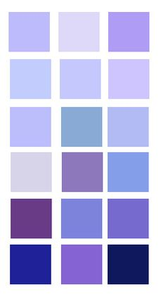 Shades of Periwinkle, Purple, Lavender and a Navy shade. Colour Pallete, Colour Schemes, Color Combos, Periwinkle Color, Periwinkle Bedroom, Periwinkle Wedding, Decoration Palette, Color Shades, Dark Shades