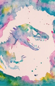 Watercolor painting based on the movie Jurassic Park Jurassic Movies, Jurassic World Dinosaurs, Jurassic Park World, Cute Backgrounds, Phone Backgrounds, Cute Wallpapers, Wallpaper Backgrounds, Jurassic World Wallpaper, Jurrassic Park