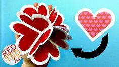 3D Pop Up Heart Card DIY - Alternative Explosion Card - Circular Heart C...