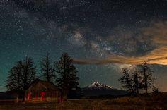 Midnight Dreams-- Mount Shasta  by @Dashburst
