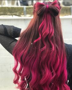 Red Wigs Lace Frontal Wigs Spicy Ginger Hair Color Curly Pink Lace Front Wig Red Wigs For Sale Midnight Blue Wig Human Hair Blood Red Hair Pink Ombre Hair, Hair Color Pink, Cool Hair Color, Cute Hair Colors, Dip Dye Hair, Dyed Hair, Blood Red Hair, Ginger Hair Color, Birthday Hair