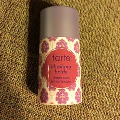 New Tarte Blushing Bride blush cheek stain New! Some separation from original shipping and a mark on the tip from pushing it back in after taking that picture. tarte Makeup Blush