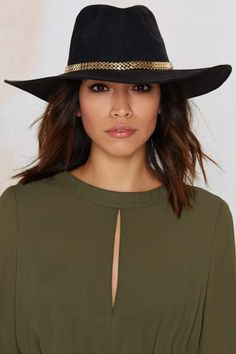 Verona Panama Hat - Black