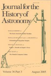Journal for the History of Astronomy