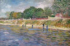 Art of the Day: Van Gogh, The Banks of the Seine, Spring 1887. Oil on canvas, 32 x 46 cm. Van Gogh Museum, Amsterdam.