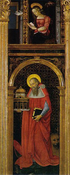 Pinturicchio - Pala di Santa Maria dei fossi, dossale - 1496-1498 - Galleria nazionale dell'Umbria, Perugia