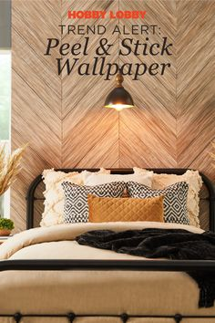 Updating your space has never been easier than with peel & stick wallpaper! Find a style that suits you and change up your space today! Find more inspiration on our DIY Projects & Videos page. Modern Industrial Decor, Making Space, Diy Projects Videos, Home Upgrades, Peel And Stick Wallpaper, Hobby Lobby, Home Accents, Home Remodeling, Farmhouse Decor
