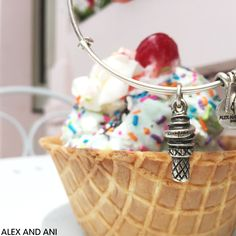 ALEX AND ANI CHARITY BY DESIGN SWEET TREATS CHARM BANGLE! #ICECREAM
