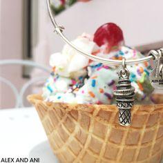 ALEX AND ANI CHARITY BY DESIGN SWEET TREATS CHARM BANGLE! #ICECREAM